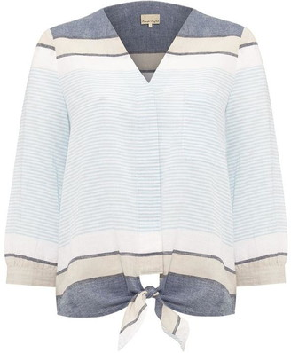 Phase Eight Isidora Tie Front Stripe Shirt