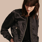 Burberry Cropped Technical Bomber Jacket