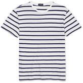 Polo Ralph Lauren Striped Slub Cotton-jersey T-shirt - White