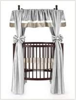 Baby Doll Bedding Crocodile Round Crib Curtain Set