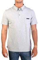 Prada Men's Cotton Short Sleeve Pocket Polo Shirt Grey.