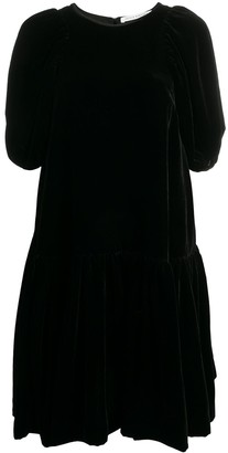 Cecilie Bahnsen Alexa puff-sleeved blossom-coque dress
