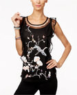 inc international concepts ruffled embroidered blouse only at macys