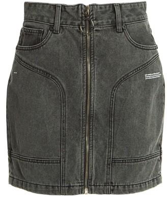 Off-White Pocket Detail Denim Skirt