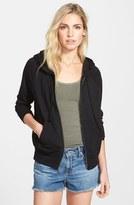 James Perse Women's Full Zip Cotton Hoodie