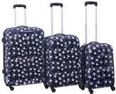 American Flyer Stars 3-Piece Hardside Spinner Luggage Set