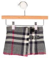 Burberry Girls' Virgin Wool Exploded Check Skirt