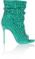 Christian Louboutin Guerilla 120 studded suede ankle boots
