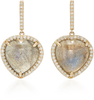 Sheryl Lowe 14K Gold, Diamond And Labradorite Earrings