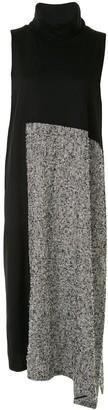 Y's Check-Panel Sleeveless Dress