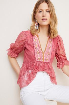 Bl Nk Kiyana Lace Top By Bl-nk in Pink Size XS