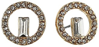 Vince Camuto Stud Earrings (Gold/Crystal) Earring