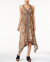 INC International Concepts Petite Printed Criss-Cross-Back Dress, Only at Macy's