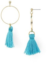 Aqua Larissa Tassel Hoop Earrings — 100% Exclusive