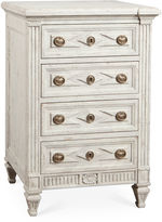Modern History Paris 4-Drawer Dresser, Antiqued White