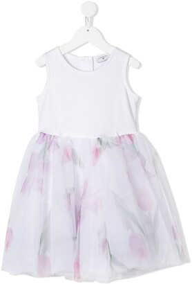 MonnaLisa Floral Print Tutu Dress