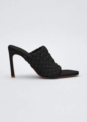 Bottega Veneta 95mm Padded Intreccio Napa Slide Sandals
