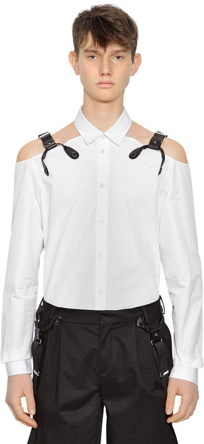 Moschino Cotton Shirt W/ Suspender Straps