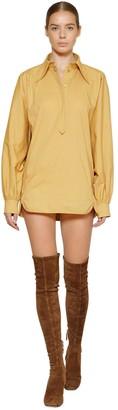 Alberta Ferretti Cotton Poplin Shirt Dress