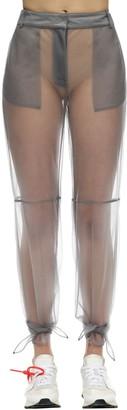 Off-White Tied Ankles Nylon Mesh Pants