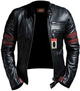Laverapelle Men's Lambskin Real Leather Jacket - 1510535 - 3XL