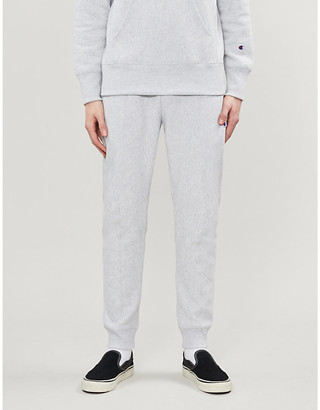 Champion Logo-embroidered cotton-jersey jogging bottoms
