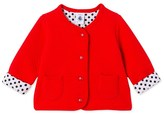 Petit Bateau Baby girls padded tube knit cardigan