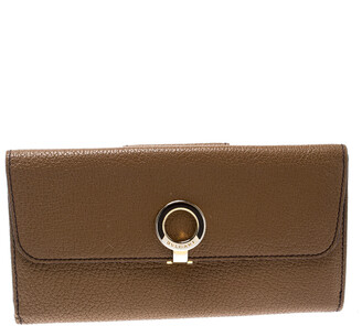 Bvlgari Brown Leather Trifold Wallet
