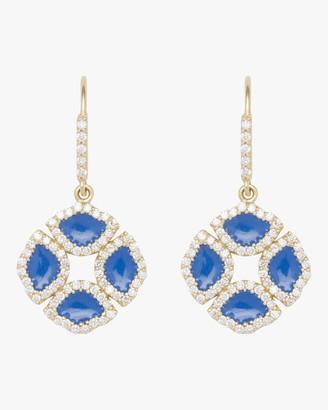 Amrapali Manjari Lotus Enamel Earrings