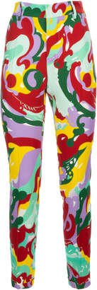 La DoubleJ Hip Capri Pleated Crepe Pants