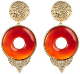 House Of Harlow Drop Carnelian Statement Earrings