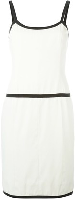Chanel Pre Owned 1990 Contrast Trim Dress