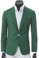 Easy Mens One Button Trim-Fit Solid color Formal Suit Blazer 2XL