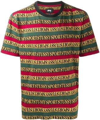 Stussy all-over lgoo T-shirt