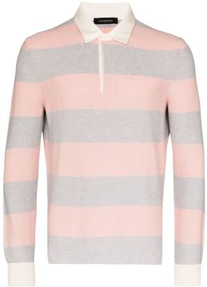 Ermenegildo Zegna Striped Knit Polo Shirt