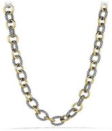 David Yurman Large Sterling Silver & 18K Gold Oval Link Necklace