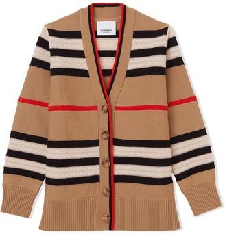 BURBERRY KIDS Vintage Stripe Cardigan