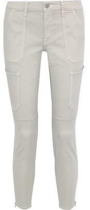 J Brand Cropped Cotton-blend Twill Skinny Pants