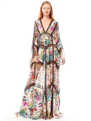 ZUHAIR MURAD Printed Silk Crepe De Chine Long Dress