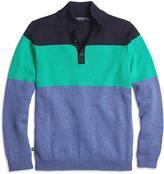 Brooks Brothers Color-Block Mockneck Sweater