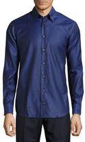Robert Talbott Casual Solid Cotton Sportshirt