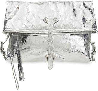Maison Margiela Metallic Cracked-leather Shoulder Bag