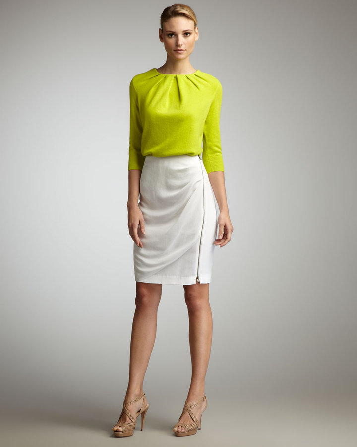 Magaschoni Pencil Draped Skirt