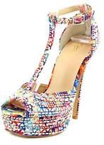 Thalia Sodi Flor Open Toe Canvas Platform Sandal.