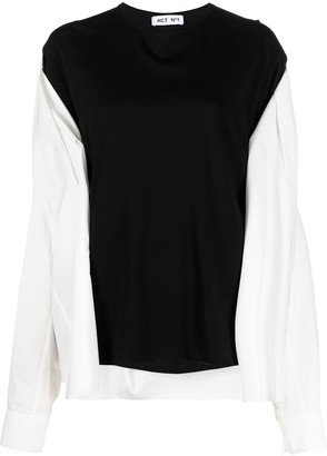 Act N�1 shirt layered-look T-shirt