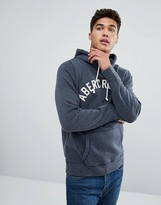 Abercrombie & Fitch Arch Logo Hoodie In Navy