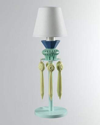 Lladro Belle de Nuit Lithophane Lamp Green