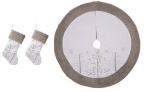 Glitzhome Tree Skirt, Set of 3