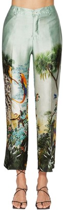 F.R.S For Restless Sleepers Hammered Print Wide Leg Silk Pants