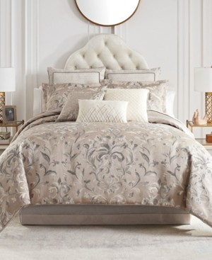 Waterford Andria Reversible 4 Piece Comforter Set, King Bedding